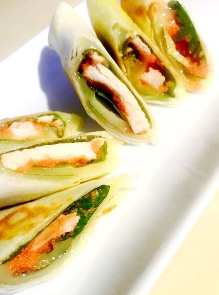 サラダチキン明太チーズ春巻き