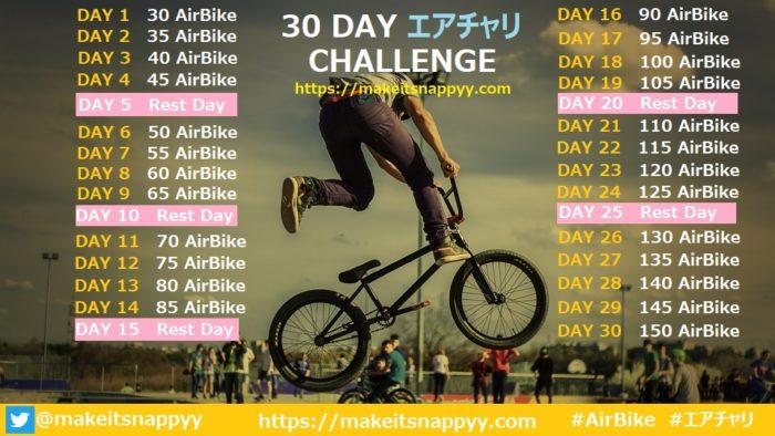 エアチャリ30日チャレンジ1