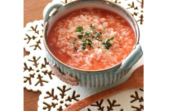 トマトとチーズのおかゆ
